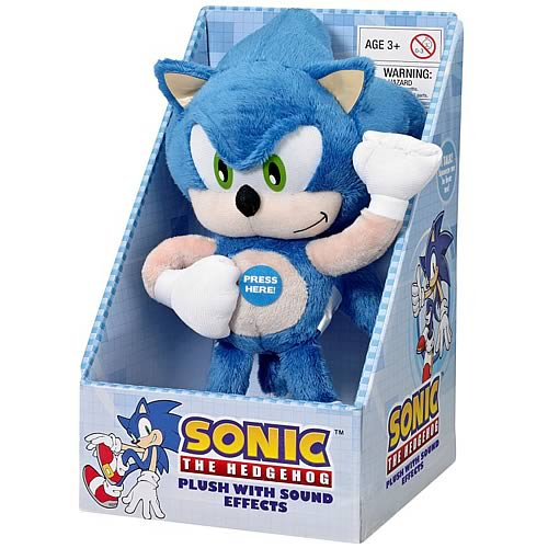 Sonic the Hedgehog Sonic Medium Plush with Sound