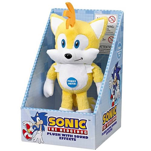 Sonic the Hedgehog Tails Medium Plush with Sound