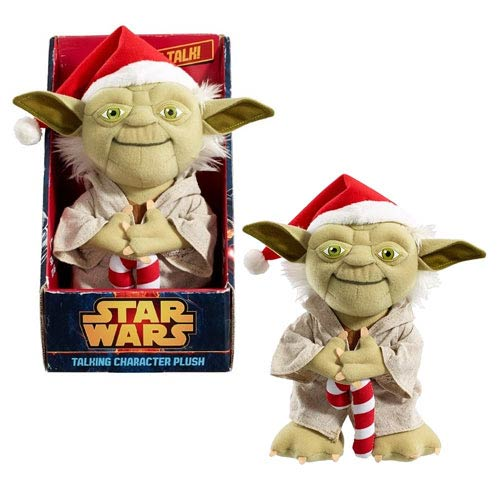 Star Wars Yoda Santa Medium Talking Plush