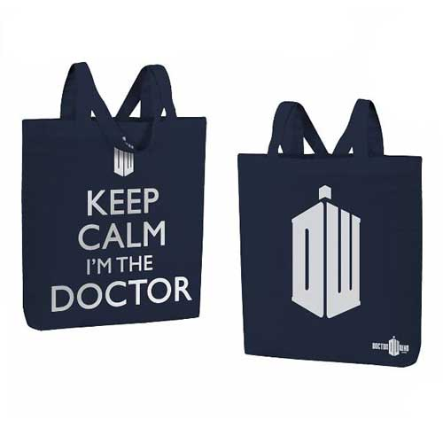 Doctor Who Keep Calm Tote Bag