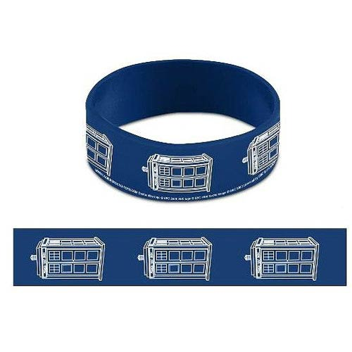 Doctor Who TARDIS Blue Rubber Wristband