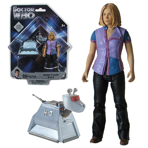 Doctor Who Rose Tyler and K-9 Action Figures