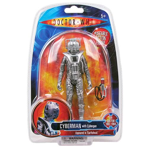 Doctor Who Earthshock Cyberman Action Figure