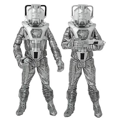 Doctor Who Cyberleader and Cyberman Silver Nemesis Figures