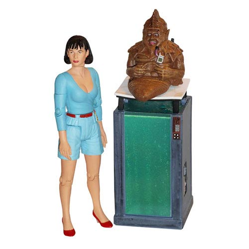 Doctor Who Peri and Sil with Tank Vengeance on Varos Figures