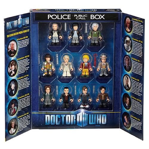 Doctor Who Eleven Doctors Mini-Figure TARDIS Box Set