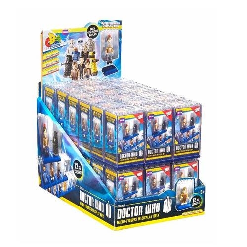 Doctor Who Character Building Figure Display Brix 6-Pack