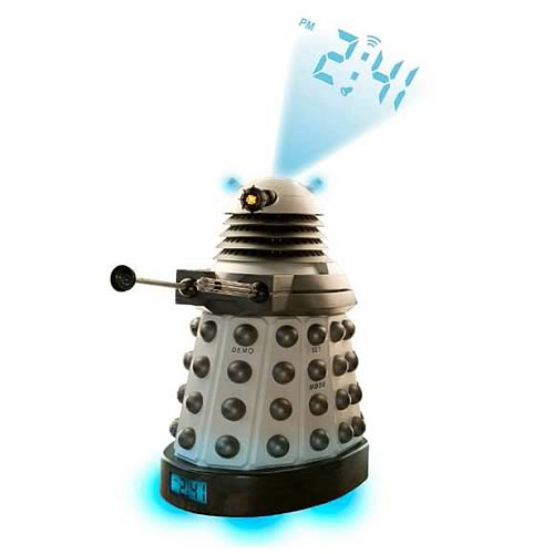 Doctor who dalek projector alarm clock underground toys doctor who clocks at entertainment - Tardis alarm clock ...
