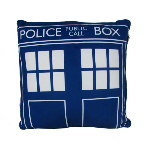 Doctor Who Square TARDIS Cushion