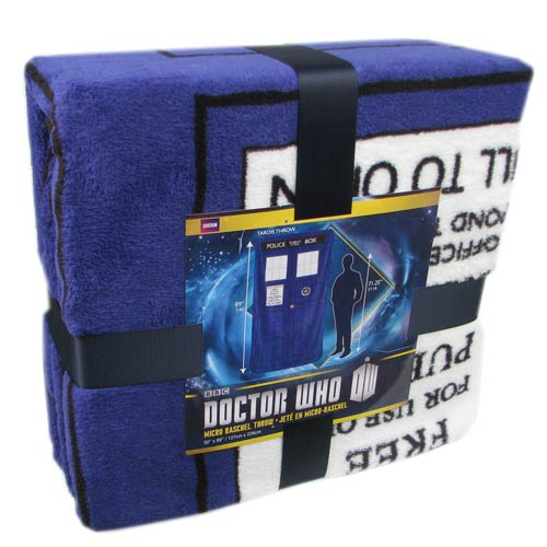 Doctor Who Classic TARDIS Large Throw Blanket