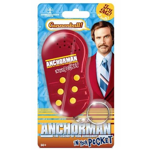 Anchorman In Your Pocket Talking Key Chain