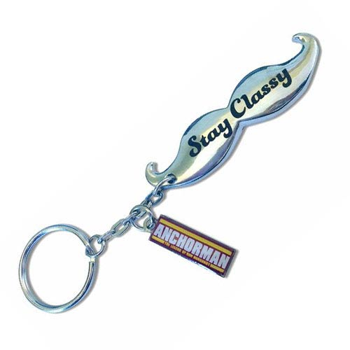 Anchorman Stay Classy Moustache Bottle Opener Key Chain