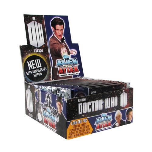 Doctor Who 50th Anniversary Alien Attax Game Display Box