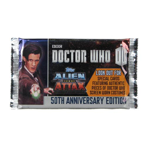 Doctor Who 50th Anniversary Alien Attax Game Booster Pack