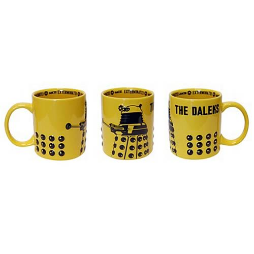 Doctor Who Dalek Bumps Yellow Mug