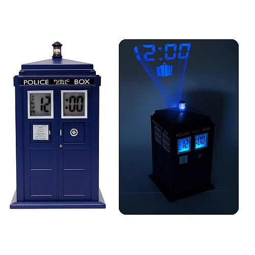 Doctor who tardis projection alarm clock underground toys doctor who clocks at - Tardis alarm clock ...