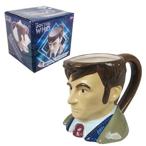 Doctor Who Tenth Doctor Bust Figural Mug