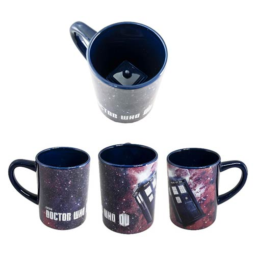 Doctor Who Hidden TARDIS Ceramic Blue Mug