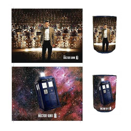 Doctor Who TARDIS and Dalek Reversible Talking Trash Can