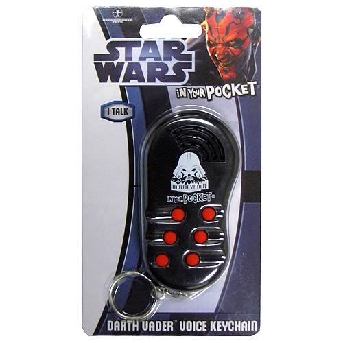 Star Wars Darth Vader In Your Pocket Talking Key Chain