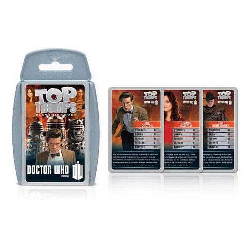 Doctor Who Top Trumps Pack 7 Card Game Set