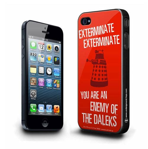 Doctor Who Dalek Exterminate Red iPhone 5 Hard Cover
