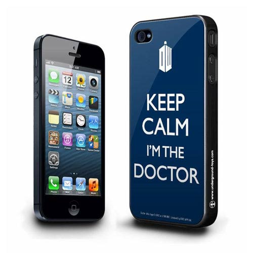 Doctor Who Keep Calm I'm The Doctor Blue iPhone 5 Hard Cover