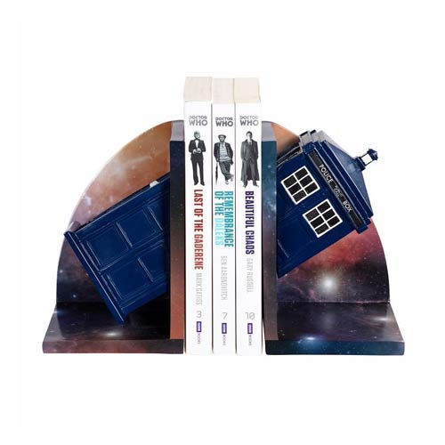Doctor Who TARDIS Resin Bookend Statues