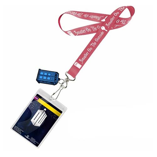 Doctor Who Smaller on the Outside Lanyard & 2D TARDIS Charm