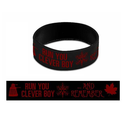 Doctor Who Run You Clever Boy And Remember Rubber Wristband
