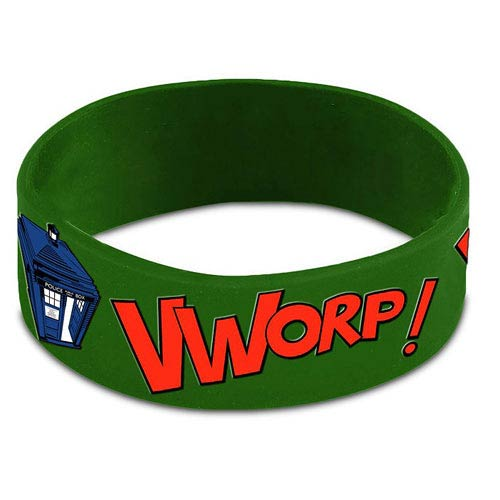 Doctor Who TARDIS Vworp! Green Rubber Wristband