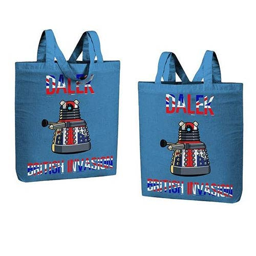 Doctor Who British Invasion Dalek Tote Bag
