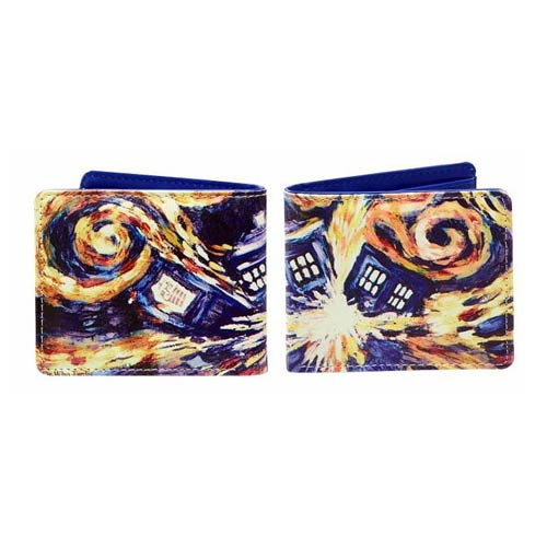 Doctor Who Van Gogh Exploding TARDIS Wallet