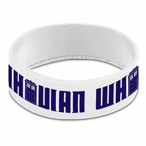 Doctor Who Whovian White Rubber Wristband