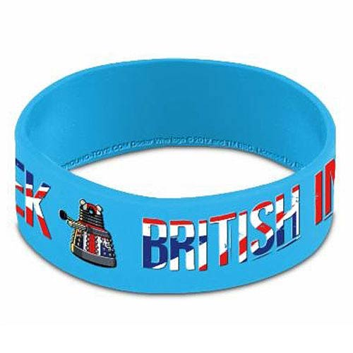 Doctor Who Dalek British Invasion Rubber Wristband