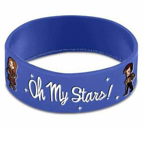 Doctor Who Oh My Stars! Blue Rubber Wristband