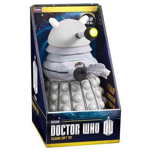 Doctor Who Talking Light-Up White Dalek 15-Inch Plush