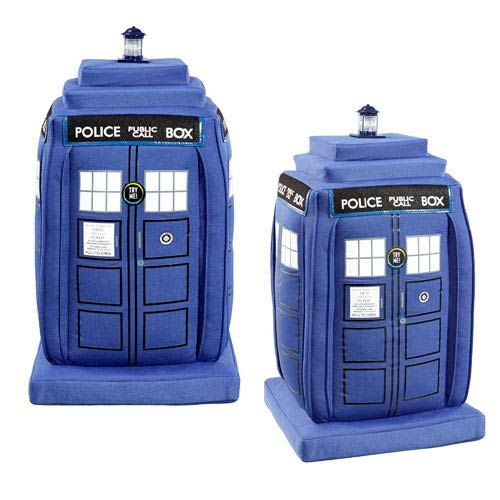Doctor Who Deluxe TARDIS Talking Light-Up 24-Inch Plush