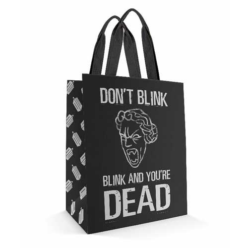 Doctor Who Don't Blink Black Tote Bag