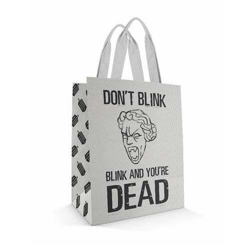 Doctor Who Don't Blink White Tote Bag