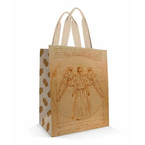 Doctor Who Vitruvian Angel Tote Bag
