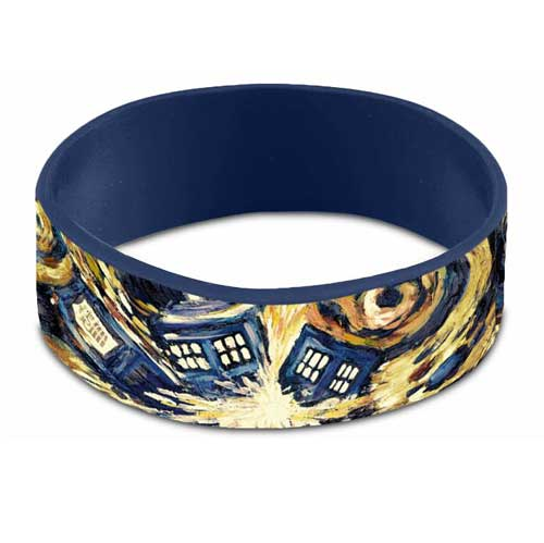 Doctor Who Van Gogh Exploding TARDIS Rubber Wristband