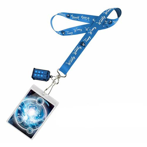 Doctor Who Timey Wimey Lanyard with 2D TARDIS Charm