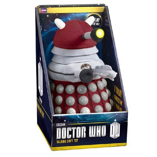 Doctor Who Talking Light-Up Burgundy Dalek 9-Inch Plush