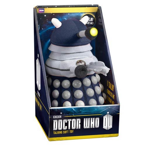 Doctor Who Talking Light-Up Dark Blue Dalek 9-Inch Plush