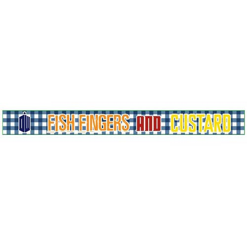 Doctor Who Fish Fingers and Custard Rubber Wristband