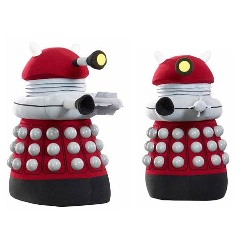 Doctor Who Burgundy Dalek Talking Light-Up 24-Inch Plush