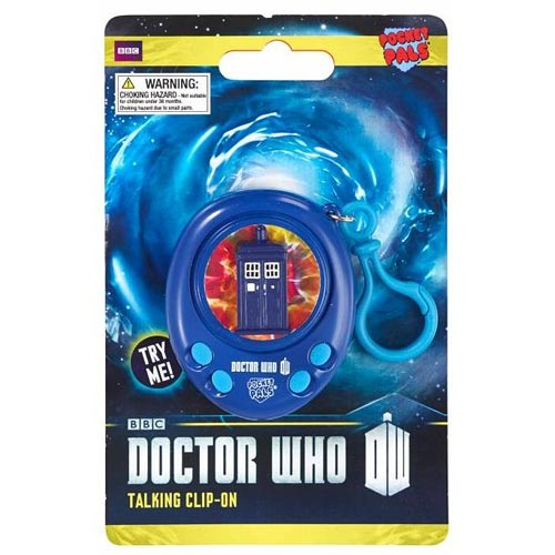 Doctor Who TARDIS Pocket Pal Talking Clip-On Key Chain