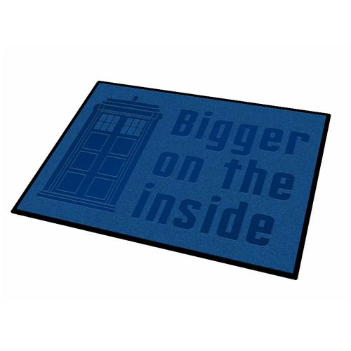 Doctor Who TARDIS Bigger on the Inside Welcome Mat