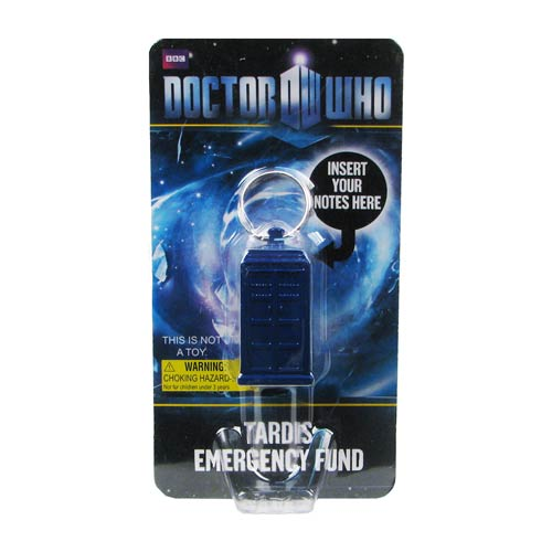 Doctor Who TARDIS Secret Bank Key Chain